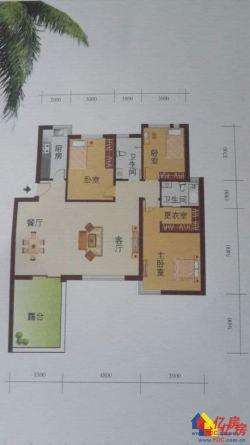 黄陂区盘龙城未来海岸3室2厅2卫123㎡