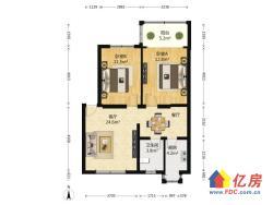 康居园中装二房 产证清晰 两房朝南 户型方正 首付仅40余万