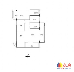 钟家村 拦江路地铁口 福星惠誉汉阳城 毛坯3房2卫 西小
