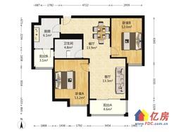 两房朝南,精装修,中高楼层,大阳台,品牌家具家电
