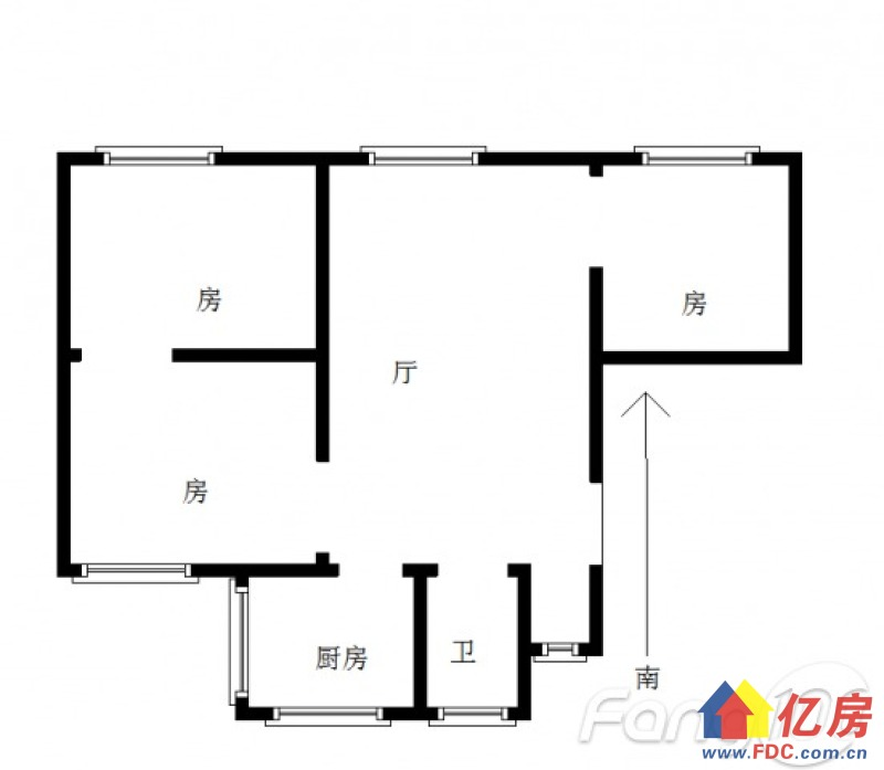 同济对面  利北社区 3房  南北通透 纯板房,一梯两户,武汉硚口区宝丰利北一村19号二手房3室 - 亿房网