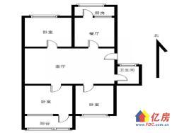 急售常青花园五村户型:3室2厅1厨1卫1阳台店长推荐!