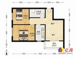 保利城旁 首付40万两居室 纯毛坯次新房 低于市场价20万