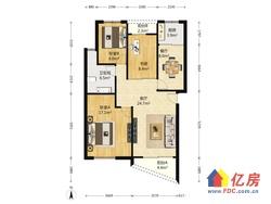绿色家园中间楼层朝南三房双阳台精装修,业主诚售