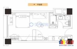 武昌区 杨园 保利城SOHO 1室1厅1卫  43㎡