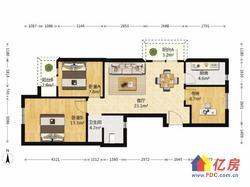 光谷八小旁 万科嘉园 精装小三房 中高楼层 小区 有钥匙