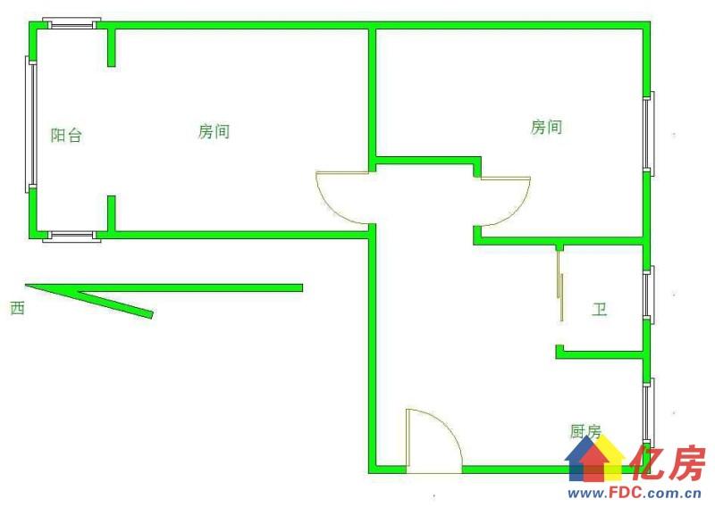 崇仁路轻轨旁3506社区老证中间楼层小两房价随时看,武汉江汉区王家墩中央商务区街道管理处二手房2室 - 亿房网