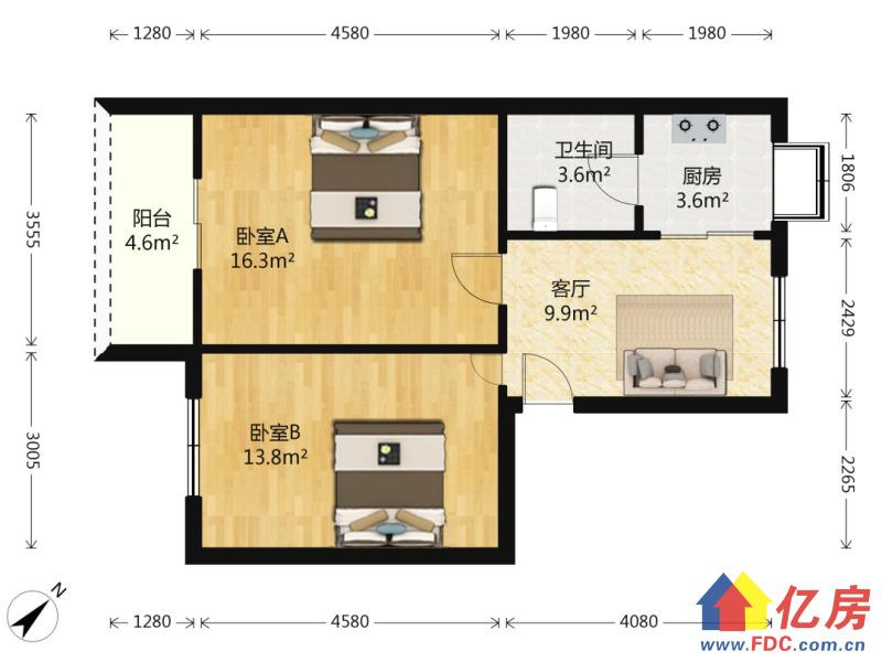 香港路儿童 品字型两房  低楼层 老证诚心出售,武汉江岸区台北香港路香港路周边附近小区二手房2室 - 亿房网