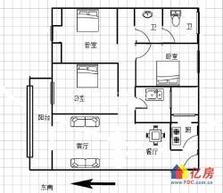 中建南湖壹号108平硬装大3房 朝南阳台 中间楼层坐落位置好
