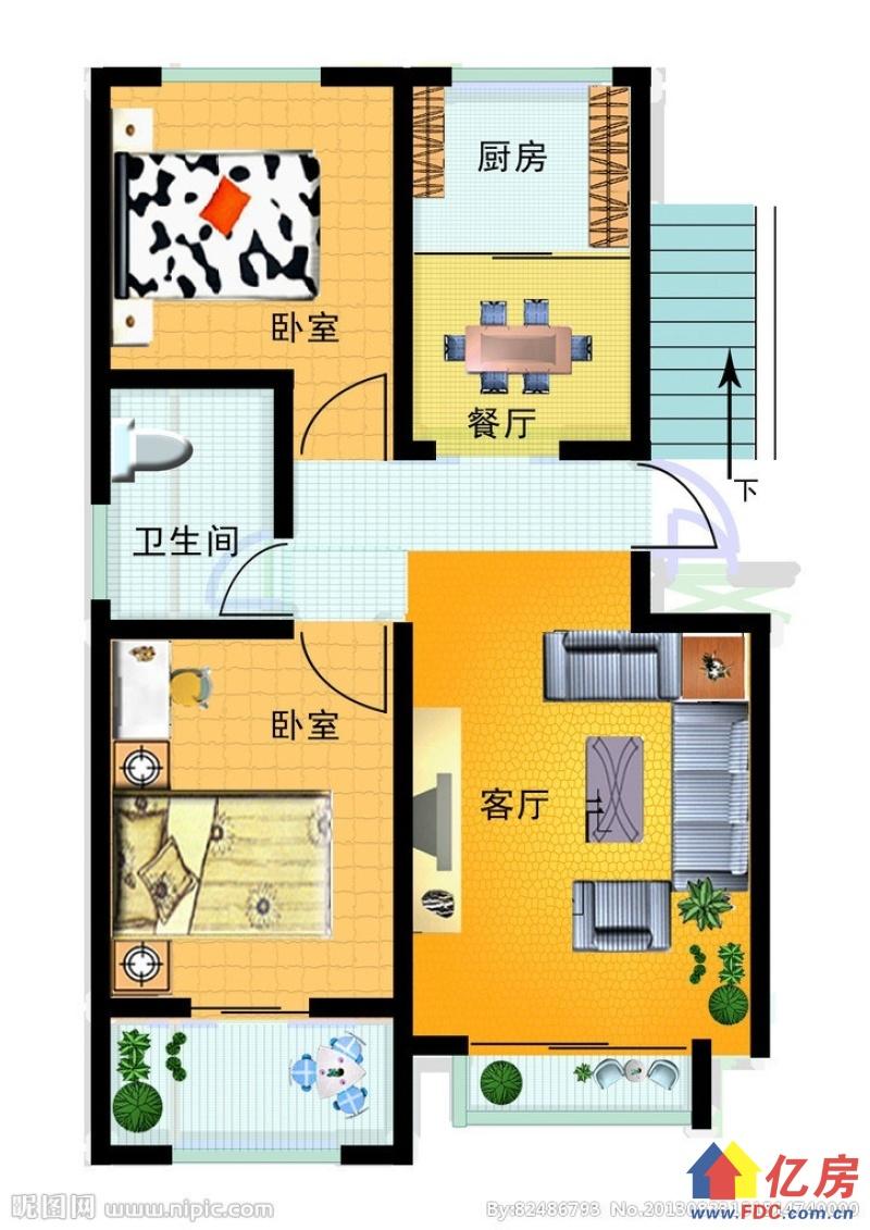 特价房四小区户型方正中间楼层采光佳有钥匙随时看房,武汉东西湖区常青花园康居物业二手房2室 - 亿房网