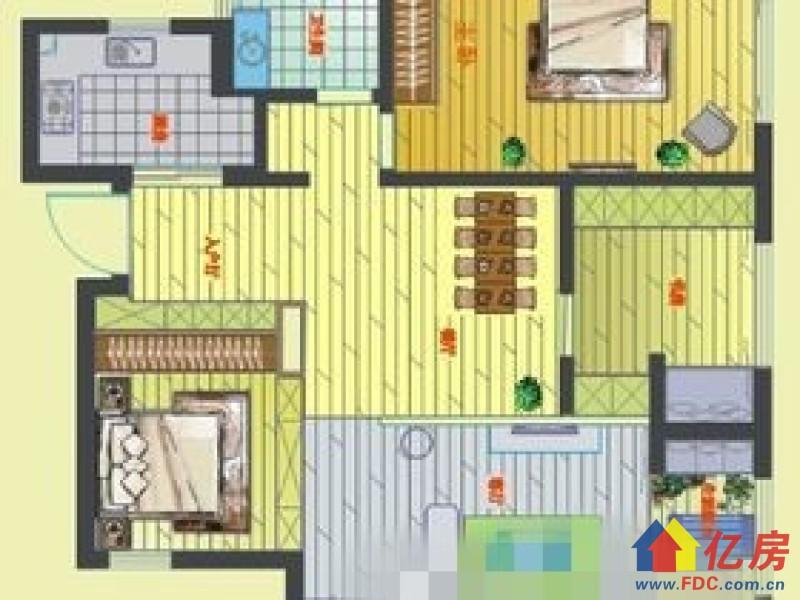 丽岛花园精装 三室两厅两卫 性价比超级棒,武汉洪山区桂元路洪山区珞狮路特1号二手房3室 - 亿房网