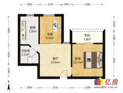 汉阳区 钟家村 鹦鹉花园六期 2室1厅1卫  58㎡