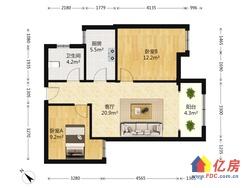 世茂四期,精装修2房,中间楼层,可以看江,急卖