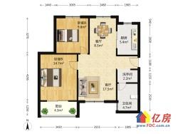 两房可改三房,高楼层,采光好,户型通透