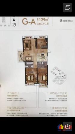 洪山区 白沙洲 新城阅璟台一期 3室2厅2卫 129㎡
