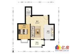 五里汉城精装正规一室一厅 老证 电梯房 非顶楼