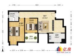 二环边电梯房 双卧朝南 看房有钥匙 中高楼层