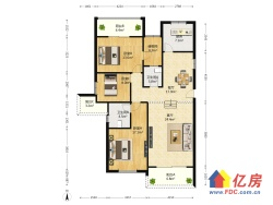 东方华尔兹三室两厅,户型方正,满五,看房方便!