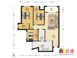 广电兰亭时代 3室2厅 南