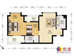 广电兰亭时代南向两居室,中间楼层,毛坯