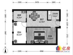 后湖市民之家附近 精装修拎包入住正规一室一厅住宅 有天燃气