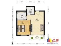 君安花园,老证精装正规1室1厅,中间楼层,无遮挡