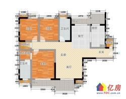 江汉区 菱角湖万达 三金华都 3室2厅2卫 139.95㎡