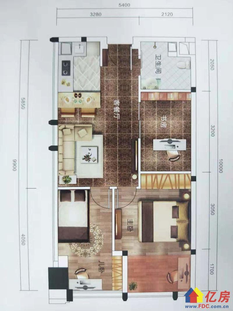 hello,看这里!一线江景,近地铁,开发商直售,现房,武汉青山区建二青山区临江大道与建设四路交汇处(和平公园旁)二手房3室 - 亿房网