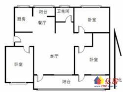 常青花园二十七村中间楼层中装大三房,南北通透送大阳台采光好。