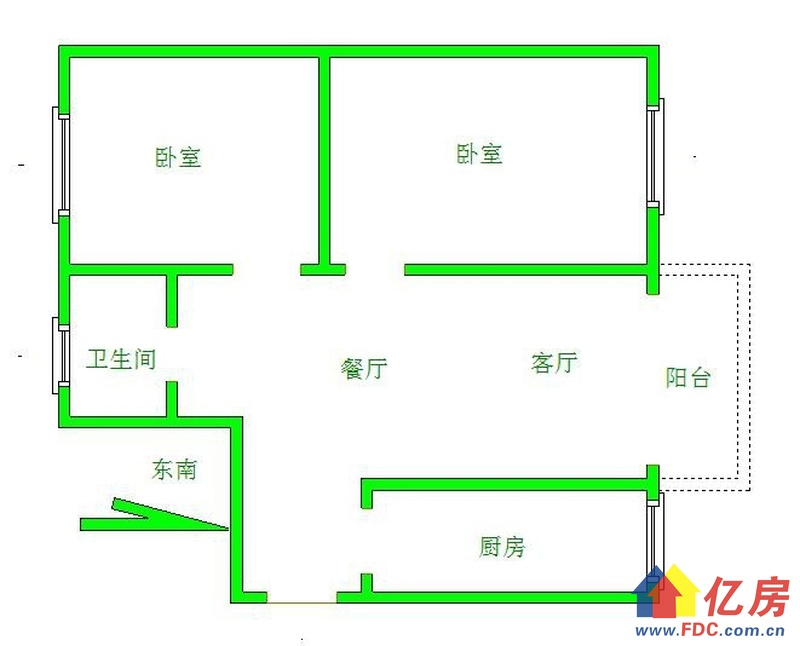 吉林社区粮贸宿舍精装两室一厅!就是武汉天地!出门就是江滩,武汉江岸区永清长春街附近二中对面二手房2室 - 亿房网