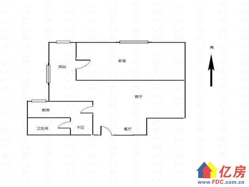 南湖名都B 1室 1厅 50.33平米,武汉洪山区南湖洪山区平安路路头南湖第一小学附近二手房1室 - 亿房网