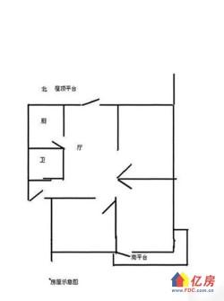 育才二村2楼带30平方屋顶花园 3室1厅1卫 83.37㎡特别适合老人小孩