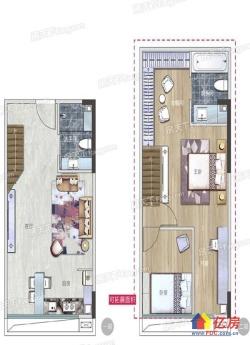 地铁口+青年说+5.4米复式楼+2室2厅+通燃气+不限/购