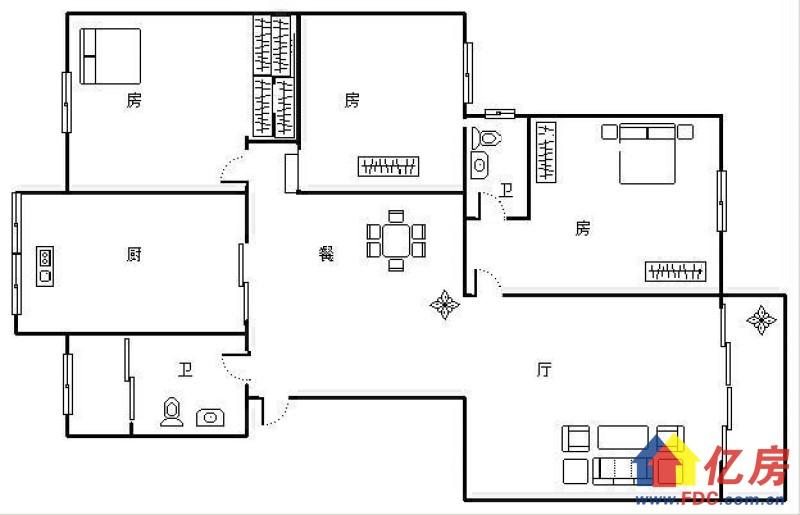 同馨花园二期 南北通透 精装三房 405万 高层 老证,武汉硚口区宝丰解放大道586号(蓝天宾馆对面该项目1楼)二手房3室 - 亿房网