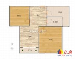 急降30万 武昌滨江绿地名邸,朝南2房,抄底价格,户型正