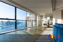 江岸滨江商务区,豪华总裁公寓,全玻璃幕墙,270°一线观江