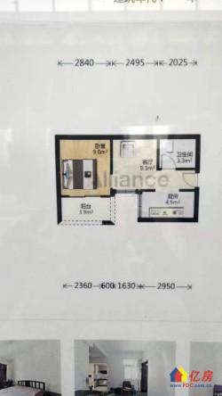 洪山区 白沙洲 武泰闸花园小区 1室1厅1卫 43.27㎡