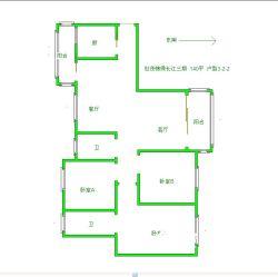 汉阳区 世茂锦绣长江三期 3室2厅2卫140.0㎡