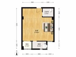 江岸区 中城家园 2室2厅1卫84.68㎡