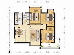 江岸区 百步亭现代城二区 3室2厅1卫97.61㎡