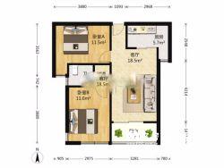江岸区 名流世家 3室2厅1卫85.0㎡