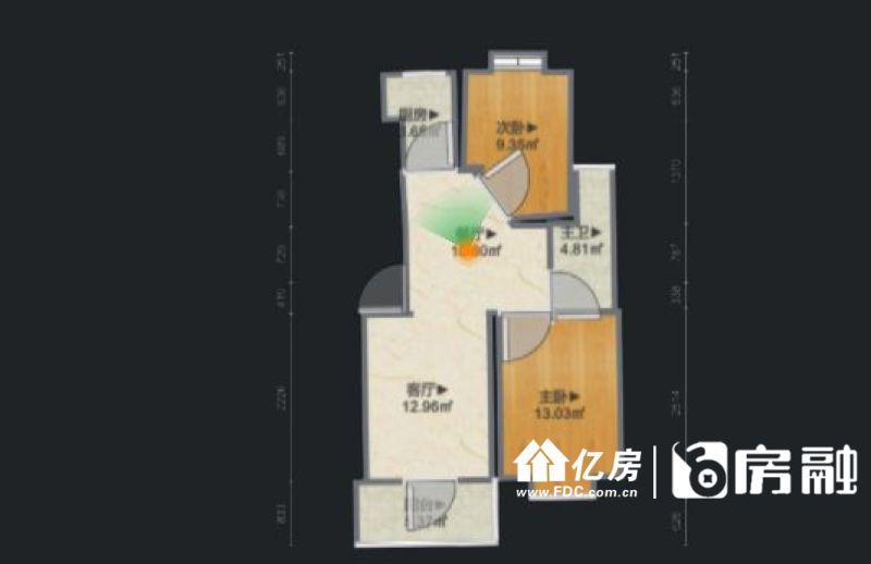 硚口区 润和花园 2室2厅1卫80.55㎡,武汉硚口区汉西硚口区硚口古田四路新墩汉西二路79号二手房2室 - 亿房网