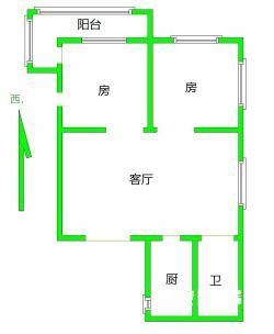 硚口区 紫薇花园 2室2厅1卫79.73㎡