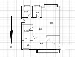 SSS锦绣人家,2号线地铁口,精装三房,大户豪宅