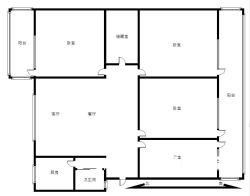 江岸区 永清 楚剧院小区 4室1厅1卫  136.61㎡