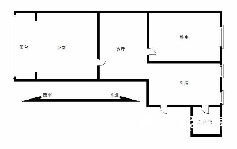 二中七一陪读房首选,不临街有煤管,武汉江岸区三阳路片解放大道麟趾路二手房2室 - 亿房网