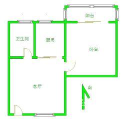 古田二路汇丰总部旁古田公寓正规一室一厅 48平米68万
