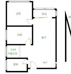 中民幸福里精装电梯两房 高层采光好 即买即住