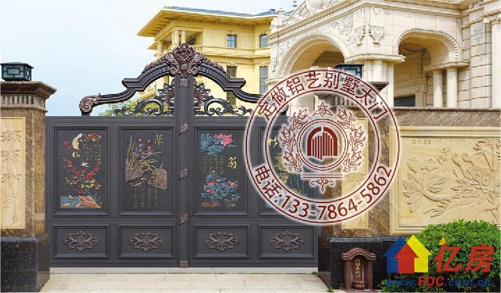 别墅院门图片大全 现代别墅大门图片大全 铝艺大门效果图