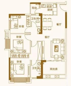 G户型,3室2厅2卫 建面109.68平_看图王.web.jpg